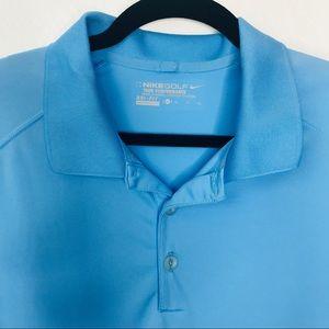 Nike | Men's Collared Shirt Blue Polo XL